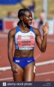 Alexander Stadium, Birmingham, UK. 30th Jun, 2018. The British Athletics  Championships 2018. Dina Asher-Smith set a new British Championship record  with a time of 10.97 seconds. Finishing in front of Daryll Neita (