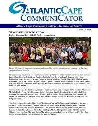 NEWS YOU NEED TO KNOW - Atlantic Cape Community College