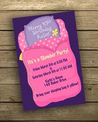 Girl S Sleep Over Slumber Party Birthday Invitation