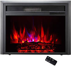 embedded electric fireplace insert