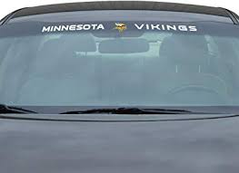 Amazon Com Fanmats Nfl Minnesota Vikings Sun Stripe Windshield Decal 3 25 In X 34 In Sports Outdoors