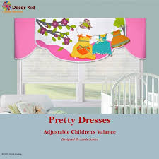 Nursery Kids Room Window Valance Pink Childrens Window Etsy