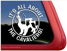 Cavalier King Charles Spaniel Dog Decals Stickers Nickerstickers