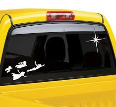 Peter Pan Flying Kids Car Window Decal With Star Window Decals Car Window Stickers Car Window