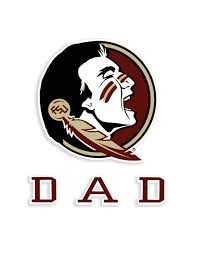 Fsu Dad Decal Barefoot Campus Outfitter