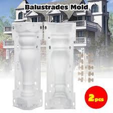 2pcs 54cm Crafts Mould Concrete Fence Balustrades Post Baluster Column Railing Mold Diy Balcony Fence Garden Pool Cement Mould Guardrail Lazada Ph