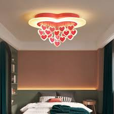 19 wide loving heart led ceiling mount