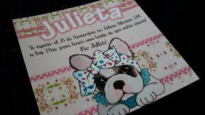 Tarjetas Invitaciones Cumpleanos Bulldog Frances Shabby Chic