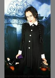 Wednesday Addams Mourning Mini Dress £50.00 - Gothic Clothing by Moonmaiden