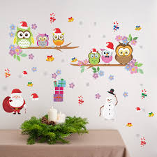 The Holiday Aisle A Very Owl Christmas Wall Decal Wayfair
