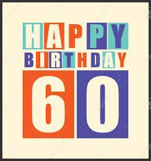 Tarjeta De Cumpleanos Feliz Retro Feliz Cumpleanos 60 Anos