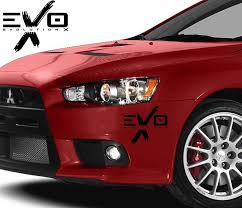 Mitsubishi Lancer Evolution Vinyl Decal For Front Rear Bumper Www Knlgiftshop Com