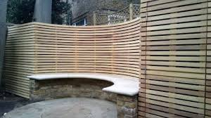 Outdoor Curved Privacy Screen Google Search Garden Privacy Screen Slatted Fence Panels Garden Privacy