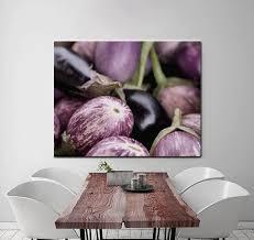purple eggplant wall art kitchen art