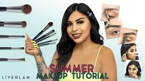 summer makeup tutorial liveglam brush