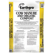 cu ft cow manure and organic post