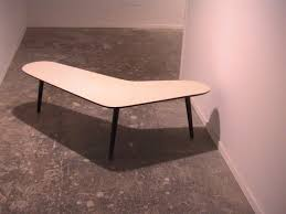 boomerang shaped coffee table by dutch