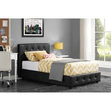 faux leather bed upholstered twin full