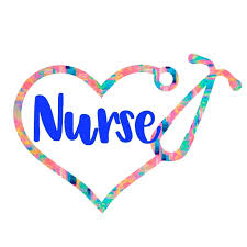 Amazon Com Custom Nurse Heart Stethoscope Vinyl Decal Registered Nurse Rn Sticker For Yeti Cup Tumbler Car Truck Suv Laptop Gifts For Nurse 20 Pattern Options You Choose Size Handmade