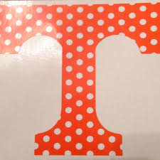 Best University Of Tennessee Car Decal Orange And White Polka Dots For Sale In Nashville Tennessee For 2020