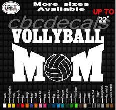 Volleyball Mom Decal Sticker Sports Mom Vinyl Decals Car Window Decals Ebay