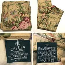 Ralph Lauren Adriana King Flat Sheet Floral Cotton ~ Made in Italy ...