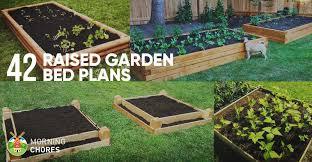 raised garden bed layout outdoor
