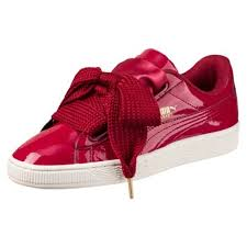 basket heart patent leather sneakers