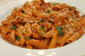 penne with homemade vodka sauce i
