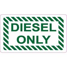 3 5x2 Diesel Only Sticker Vinyl Truck Decal Fuel Container Label Stickers Walmart Com Walmart Com