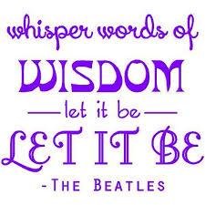Vinyl Wall Decal Let It Be Beatles Music Decal Song Lyrics Sticker 20 X20 Bb6 Walmart Com Walmart Com