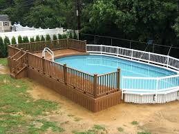 White Pool Fence Ideas Swimming Pool Fencing Ideas Above Ground Swimming Pool Fencing Ideas Sweetaroma Info