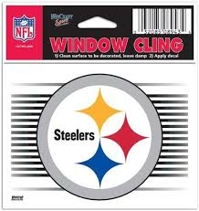 Amazon Com Pittsburgh Steelers Nfl 3x3 Static Window Cling Decal Sports Fan Wall Decor Stickers Sports Outdoors