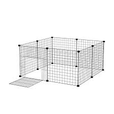 Pet Dog Fence Playpen Rabbit Home Crate Diy Metal Wire Kennel Extendable Pet Cage For Bunny Puppy Rabbit Ferret Guinea Pig House Color White Size 6pcs Panels