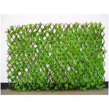 Buy Wonderland Set Of 2 Expandable Willow Fence Screen Hedge With Artificial Green Leaves White Flowers Online At Low Prices In India Amazon In
