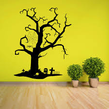 Tree Creepy Dead Horror Graveyard Spooky Cross Vinyl Wall Art Sticker Decal Ebay