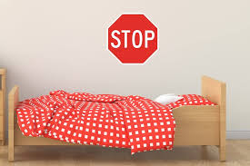 Amazon Com Street Traffic Sign Wall Decals Stop Sign 12 Inch Removable Graphic Home Kitchen