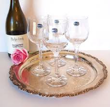 wine glasses crystal blown glass