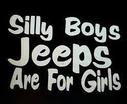 Jeep Windshield Decal For Women Silly Boys Jeeps Are For Girls Custom Jeep Decals Jeep Decal For Girls Funny Jeep Decal Big Car Decals Stickers Labels Tags Paper Party Supplies