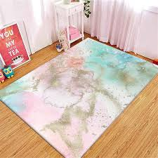Fresh Pink Blue Bedside Mat For Girls Bedroom Fashion Abstract Colorful Carpet Kitchen Rug Kids Room Carpet Nordic Style Carpet Aliexpress