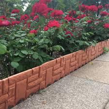 26cm X 23cm 6pcs Fence Garden Plastic Lawn Grass Edging Garden Fencing Plants Flowers Bed Border Fence Gates Garden Decoration Leather Bag