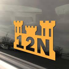 U S Army Mos 12n Horizontal Construction Engineer Castle Window Decal Inkfidel