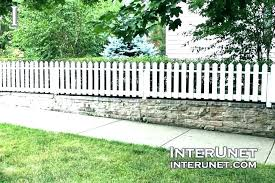 Small White Picket Fence For Garden Daniz Co