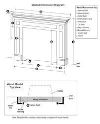 mantel specifications mantel dimensions