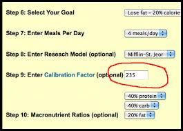 calorie calculator calibration scooby