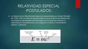 RELATIVIDAD ESPECIAL Universidad Nacional de Colombia Fundamentos ...