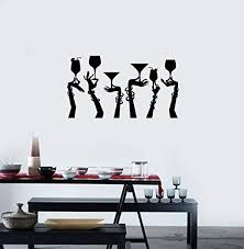 Amazon Com Resordecals Cocktail Glasses Vinyl Wall Decal Hands Party Nightclub Bar Alcohol Stickers Mural Tt999 Home Kitchen