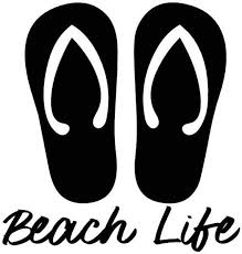 Beach Life Sandals Vinyl Decal Etsy