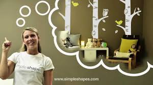 Wall Decal How To Install Wall Sticker How To Install 1 855 945 2343 Simple Shapes Youtube