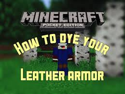 leather armor in mcpe minecraft pe